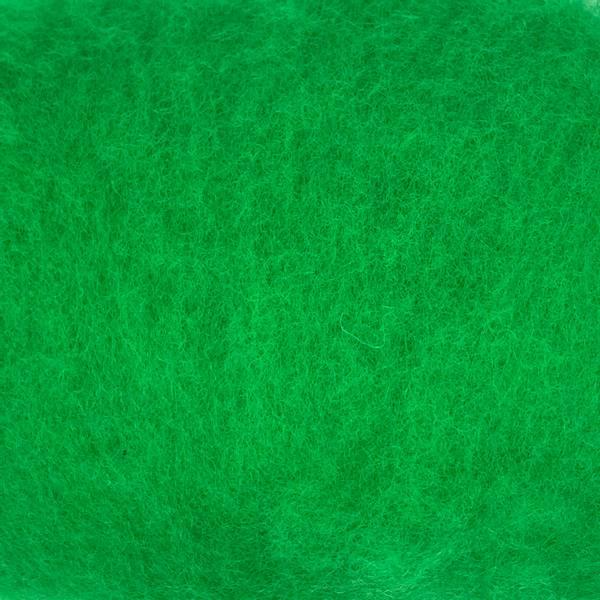 Bilde av Kardet ull, skarp grønn 100g