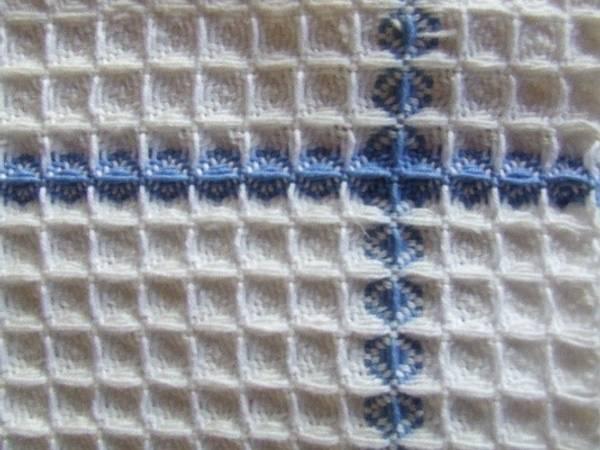 Bilde av Vevpakke Håndkle i vaffelbinding bleket